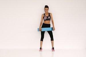 Woman in fitness studio