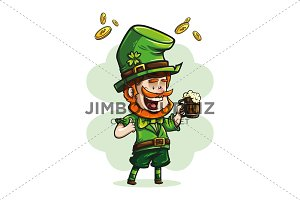 Irish elf holding a barrel of beer