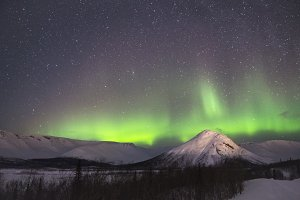Northern Lights in Mountains