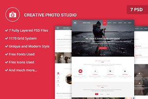 Photo Studio PSD Website Template