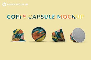 Coffee Capsule Mockup (Frontview)