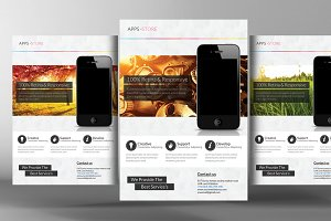 Creative Mobile App Flyer