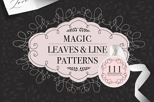 Magic Leaves and Line Patterns