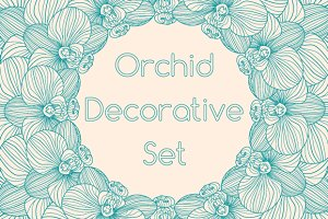 Decorative Orchid Set