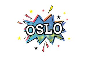 Oslo Comic Text in Pop Art Style.