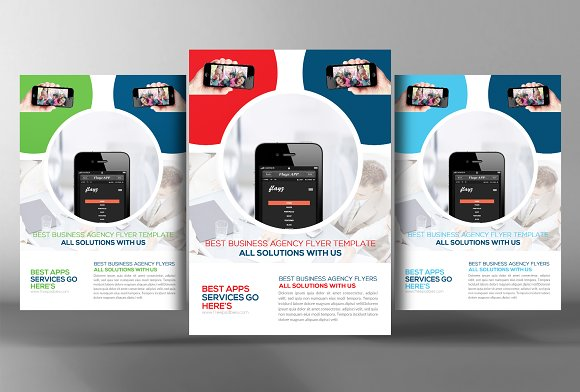 5 Mobile App Flyers Bundle in Flyer Templates - product preview 2