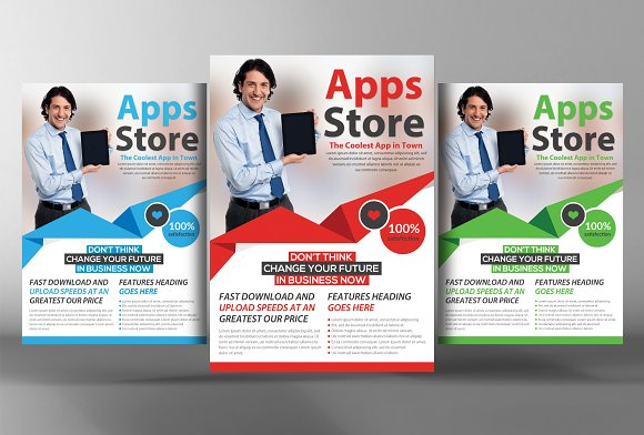 5 Mobile App Flyers Bundle in Flyer Templates - product preview 3