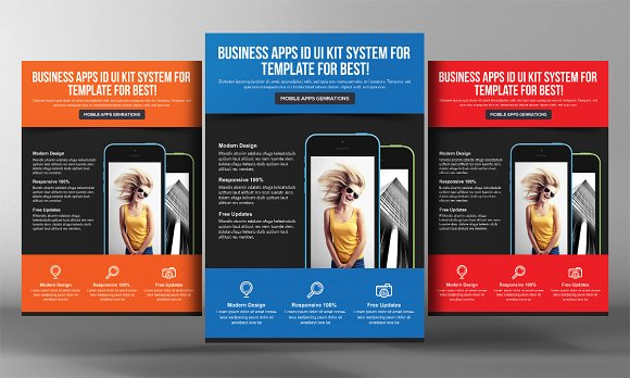 5 Mobile App Flyers Bundle in Flyer Templates - product preview 4