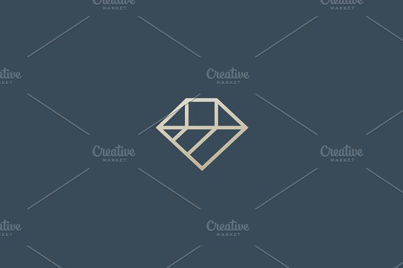 Diamond Vector Line Logotype