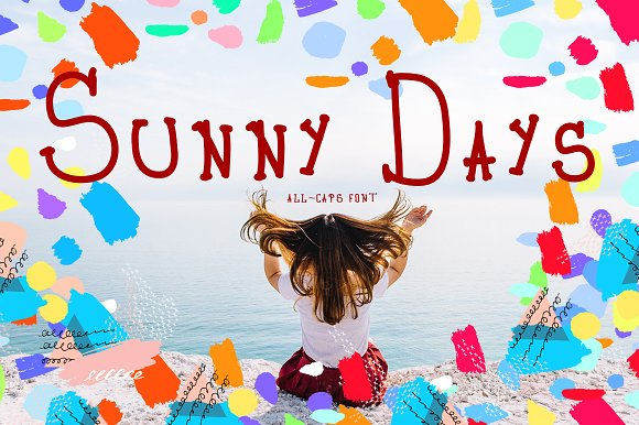 Sunny Days All-Caps Font