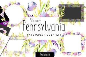 """""""Pennsylvania"""". 5 Frames."""