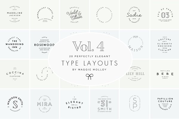 Type Layouts Vol. 4 Text Based Logo…