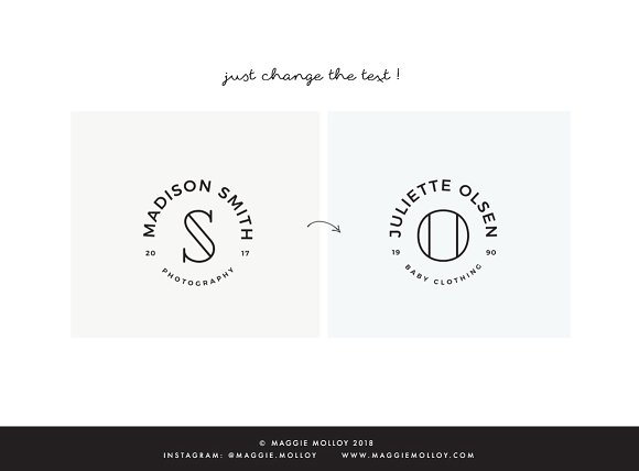 Type Layouts Vol. 4 Text Based Logos in Logo Templates - product preview 2