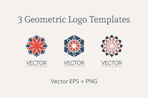 3 Geometric Logo Templates