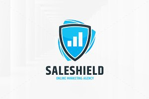 Sale Shield Logo Template