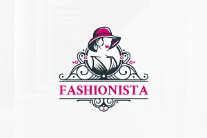 Victorian Fashionista Logo Template