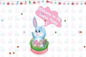 Easter Bunny Web Design Template