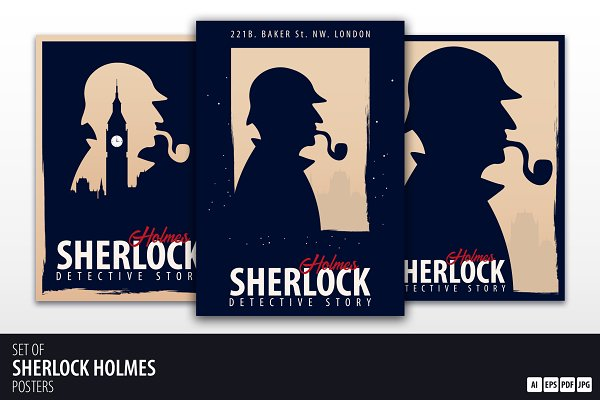 Sherlock Holmes. Set of Posters