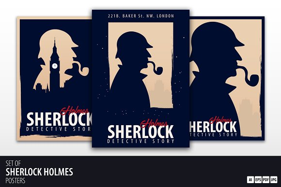 Sherlock Holmes Set Of Posters