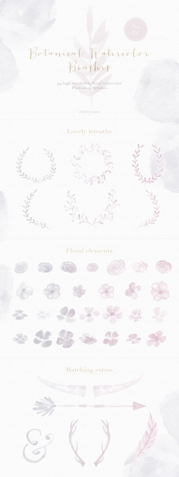 Floral Watercolor Photoshop Brushes