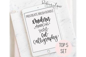 Procreate Brush Bundle | Calligraphy