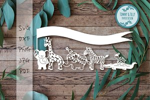 Animal Parade - Clipart & Cut File
