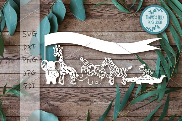 Animal Parade Clipart Cut File