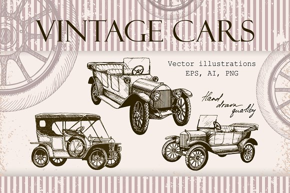 Vantage Cars Illustrations
