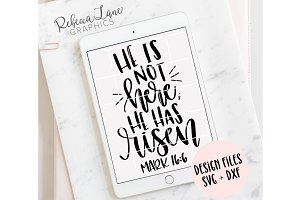 He is not here, He has risen design