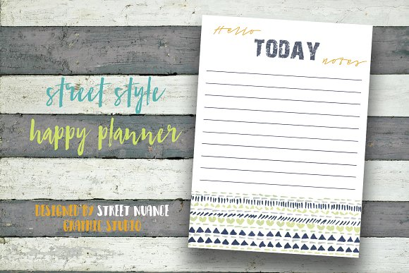 Street Style Daily Planner