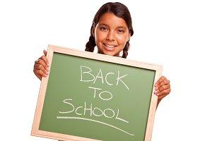 Girl & Chalkboard, Back To School