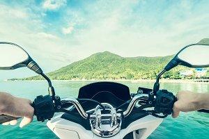 Motorbike driver view