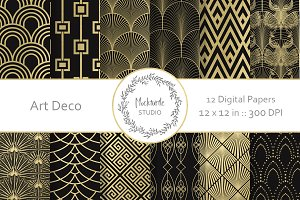 Art Deco digital paper