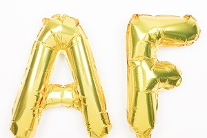 AF Gold Balloon Stock photo