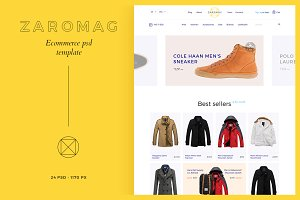 Zaromag — eCommerce PSD template