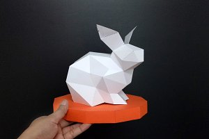 DIY Easter Rabbit - 3d papercraft