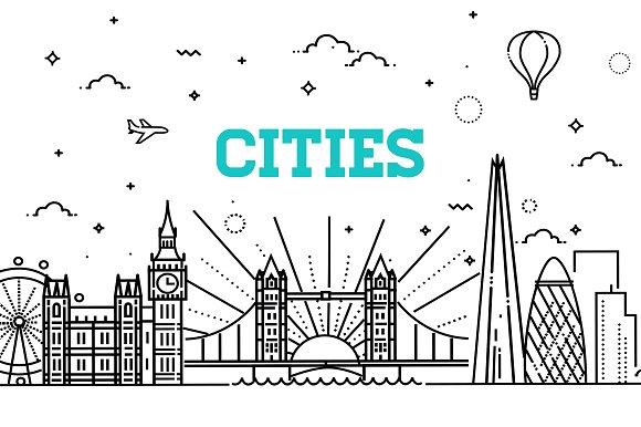 9 Cities Linear Skyline