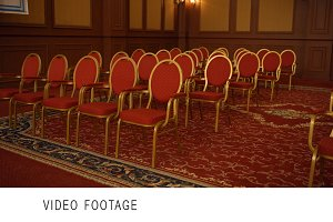 Emty conference hall classic design