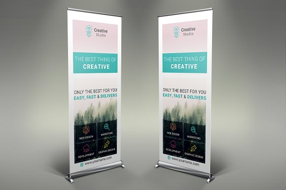 Creative Company Roll Up Banner #094