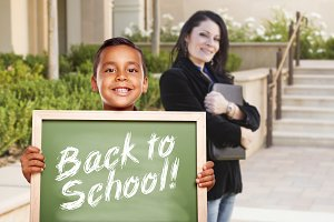 Boy, Back to School Chalkboard