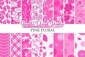 Pink Floral digital paper