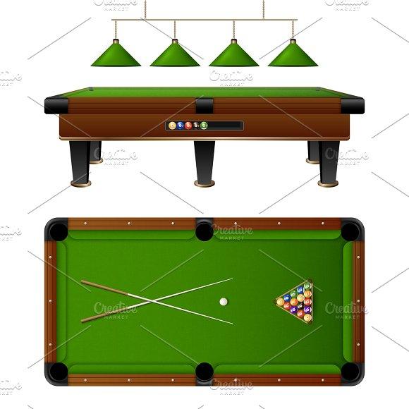 Pool Billiard Table And Furniture