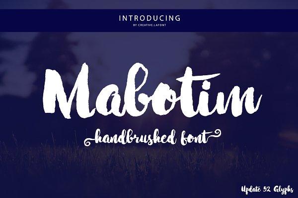 Best Mabotim Brush Vector