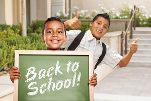 Boys & Thumbs Up, Back To School