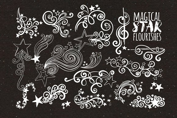 Magical Star Flourishes