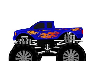 Monster truck, vector illustration
