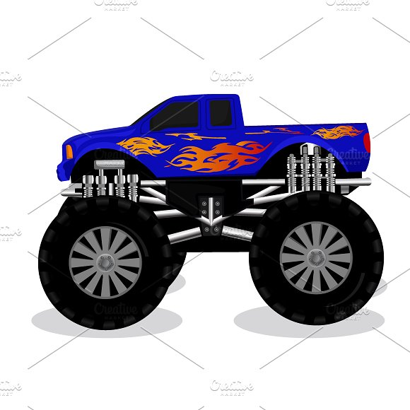 Monster Truck Vector Illustration
