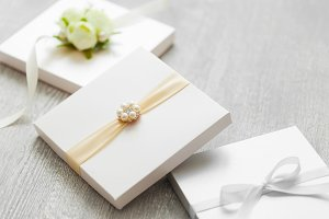 Wedding boxes for gifts or cards.