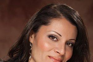 Hispanic Woman Studio Portrait
