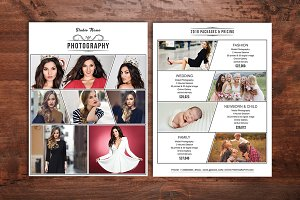 Photography Price List Template